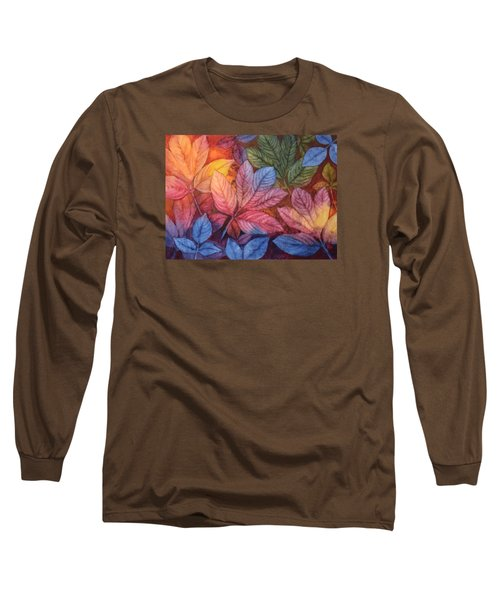 Long Sleeve T-Shirt featuring the painting Autumn Color by Nancy Jolley