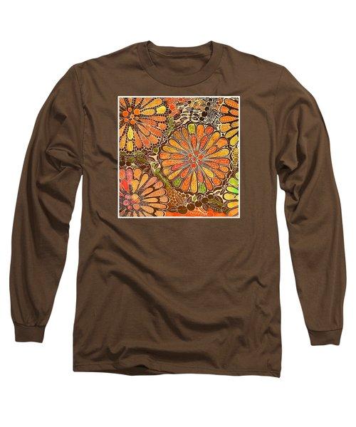 Autumn  Colors Mandalas  Long Sleeve T-Shirt by Sandra Lira