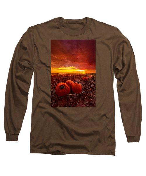 Autumn Falls Long Sleeve T-Shirt by Phil Koch