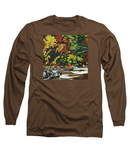 Long Sleeve T-Shirt featuring the painting Autumn Frost by Donna Blossom
