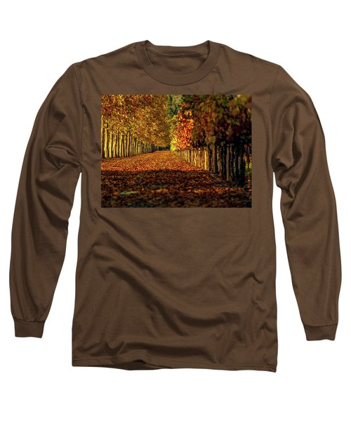 Long Sleeve T-Shirt featuring the pyrography Autumn In Napa Valley by Bill Gallagher
