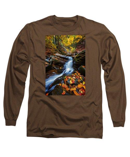 Autumn In The Catskills Long Sleeve T-Shirt by Rick Berk