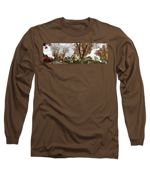 Autumn In The City 11 Long Sleeve T-Shirt by Victor K