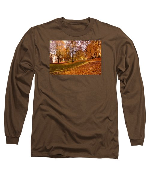 Autumn In The City Park Maastricht Long Sleeve T-Shirt by Nop Briex