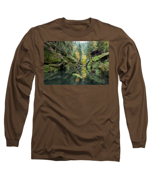 Autumn In The Kamnitz Gorge Long Sleeve T-Shirt by Andreas Levi