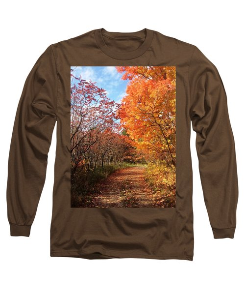 Autumn Lane Long Sleeve T-Shirt by Pat Purdy
