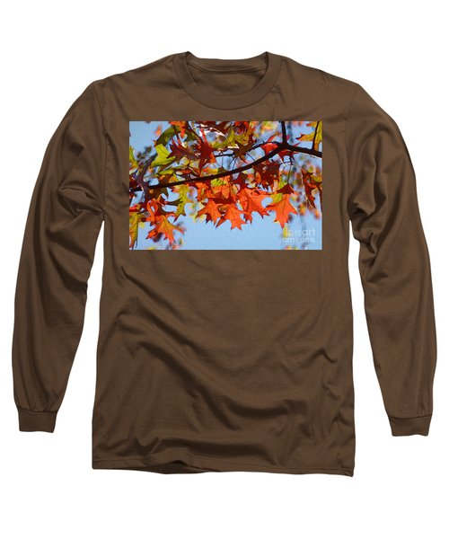 Autumn Leaves 16 Long Sleeve T-Shirt by Jean Bernard Roussilhe