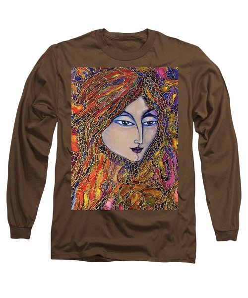 Long Sleeve T-Shirt featuring the painting Autumn Leaves by Rae Chichilnitsky