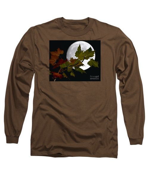 Long Sleeve T-Shirt featuring the photograph Autumn Moon by Patrick Witz
