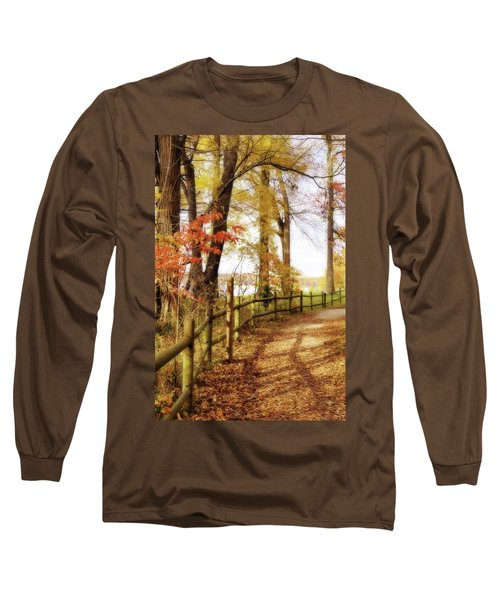 Long Sleeve T-Shirt featuring the photograph Autumn Pathway by Jean Goodwin Brooks
