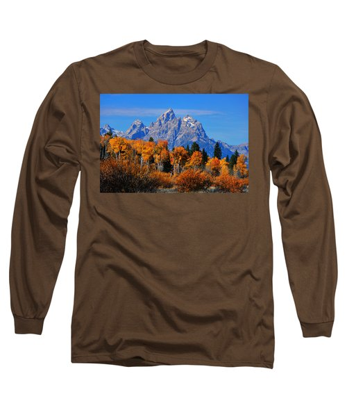 Autumn Peak Beneath The Peaks Long Sleeve T-Shirt by Greg Norrell