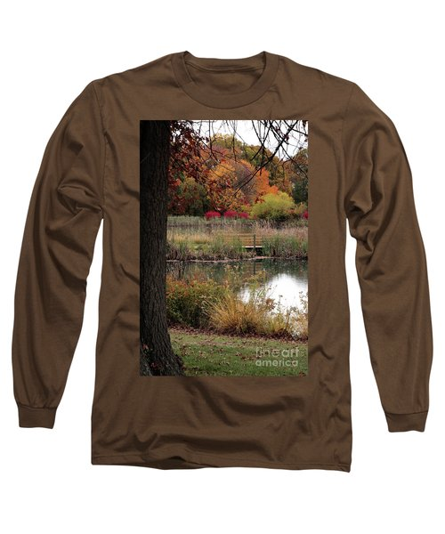 Autumn Pond In Maryland Long Sleeve T-Shirt