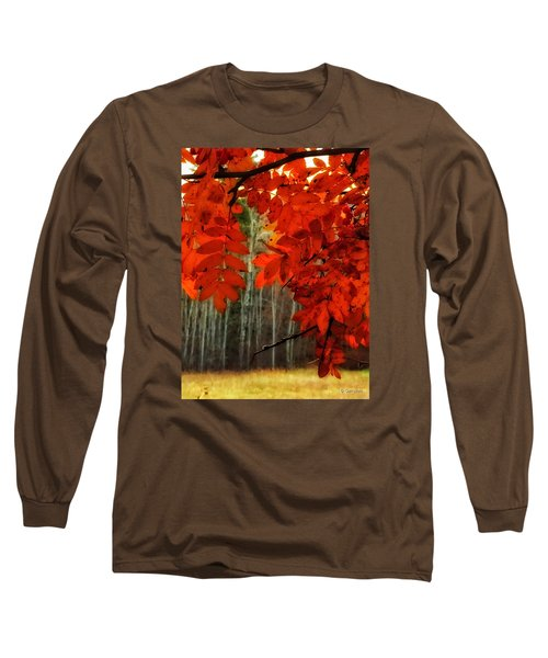 Autumn Red Long Sleeve T-Shirt