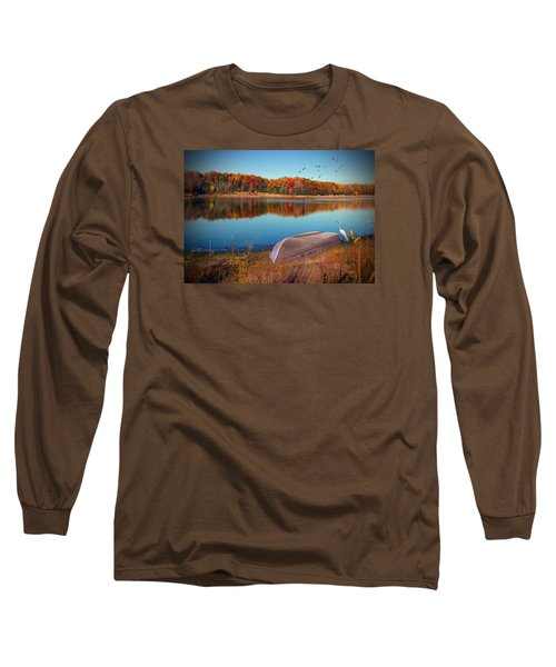 Autumn Serenade Long Sleeve T-Shirt by Cedric Hampton