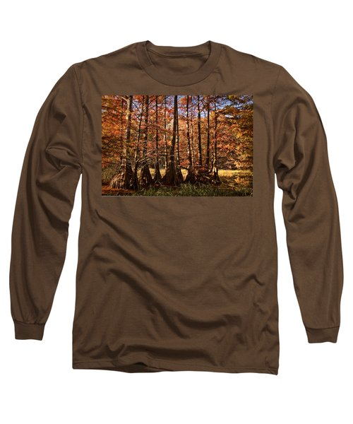 Long Sleeve T-Shirt featuring the photograph Autumn Splendor At Lake Murray by Tamyra Ayles