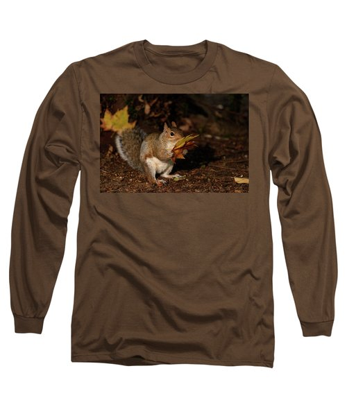 Autumn Squirrel Long Sleeve T-Shirt by Matt Malloy
