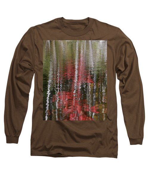 Long Sleeve T-Shirt featuring the photograph Autumn Water Color by Susan Capuano