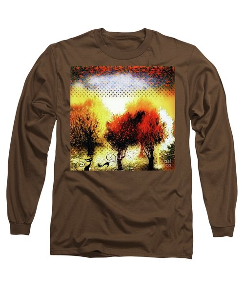 Autumn With Cat Focus Long Sleeve T-Shirt