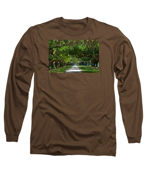 Avenue Of The Oaks At Boonville Plantation Long Sleeve T-Shirt