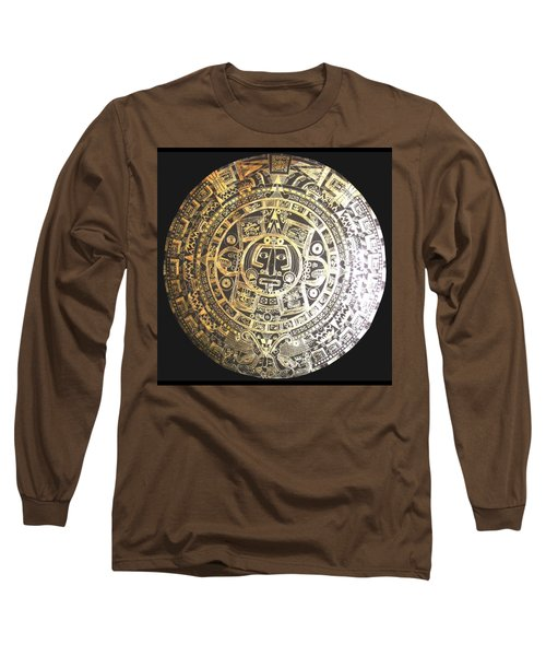 Aztec Calendar Long Sleeve T-Shirt