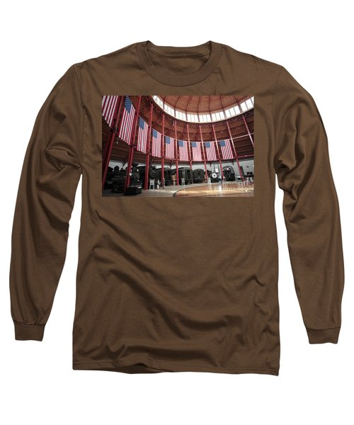 B And O Museum Roundhouse In Baltimore Maryland Long Sleeve T-Shirt