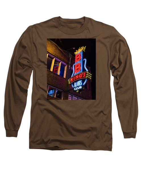 B B Kings On Beale Street Long Sleeve T-Shirt by Stephen Stookey