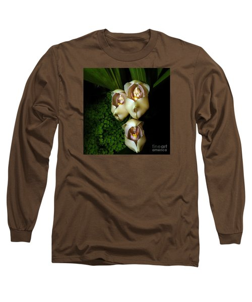 Babies In The Cradle - Floral Oddity Long Sleeve T-Shirt by Merton Allen