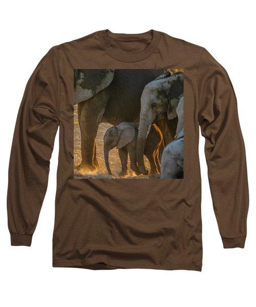 Baby And Siblings Long Sleeve T-Shirt