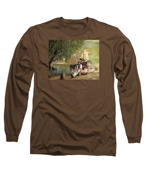 Back Country Camp Out Long Sleeve T-Shirt by Rhonda Strickland