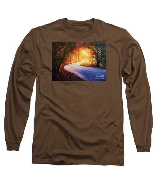 Back Road To Paradise Long Sleeve T-Shirt by Karen Kennedy Chatham