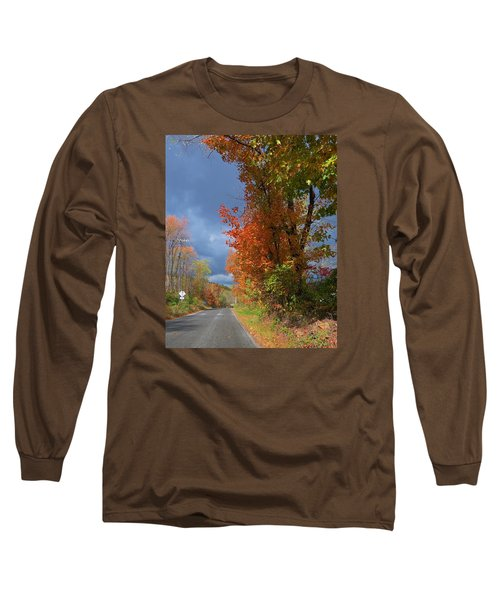 Backroad Country In Pennsylvania Long Sleeve T-Shirt by Jeanette Oberholtzer