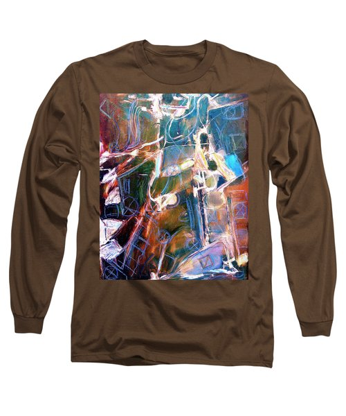 Long Sleeve T-Shirt featuring the painting Badlands 1 by Dominic Piperata