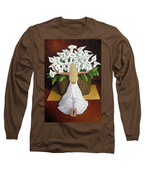 Baileyrae Lilies Long Sleeve T-Shirt