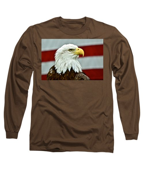 Bald Eagle And Old Glory Long Sleeve T-Shirt