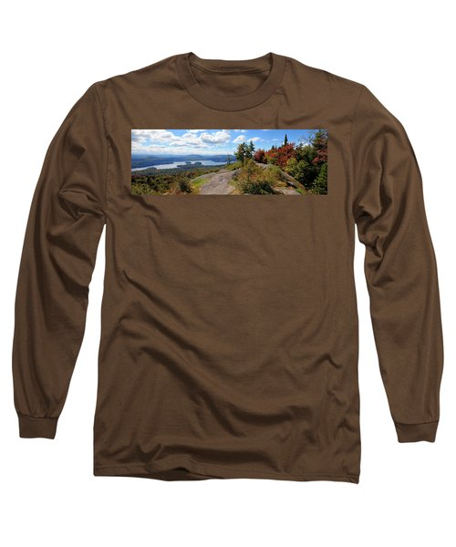 Bald Mountain Autumn Panorama Long Sleeve T-Shirt