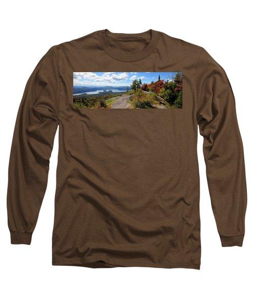 Bald Mountain Autumn Panorama Long Sleeve T-Shirt