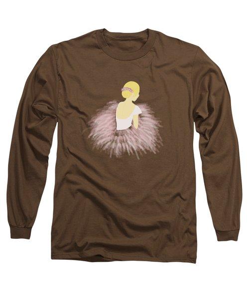 Ballerina Dancer Blonde Long Sleeve T-Shirt