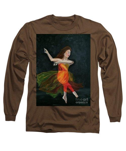 Ballet Dancer 2 Long Sleeve T-Shirt by Brindha Naveen