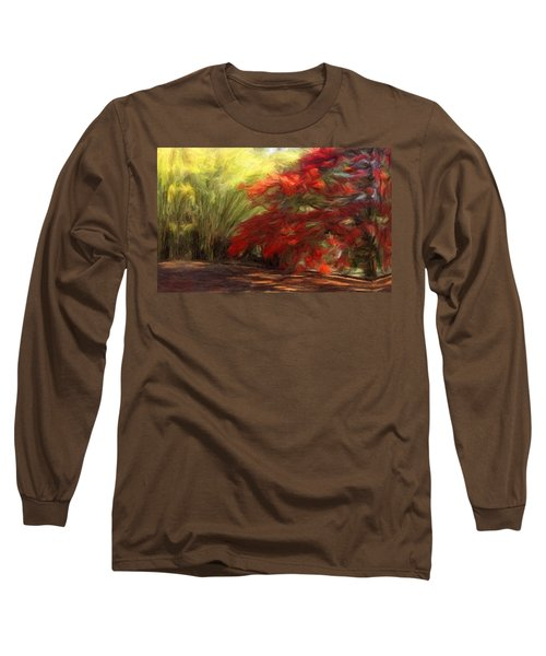 Bamboo And The Flamboyant Long Sleeve T-Shirt