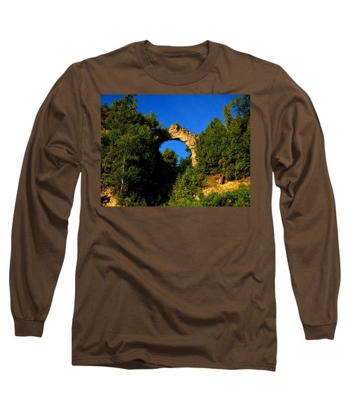 Beneath Arch Rock Long Sleeve T-Shirt by Keith Stokes