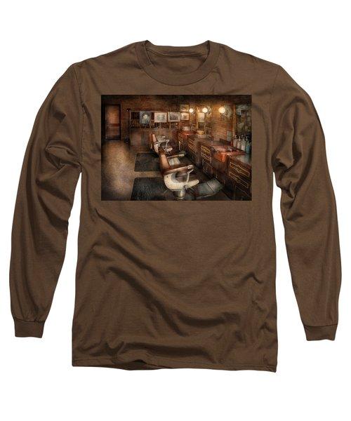Barber - Clinton Nj - Clinton Barbershop  Long Sleeve T-Shirt