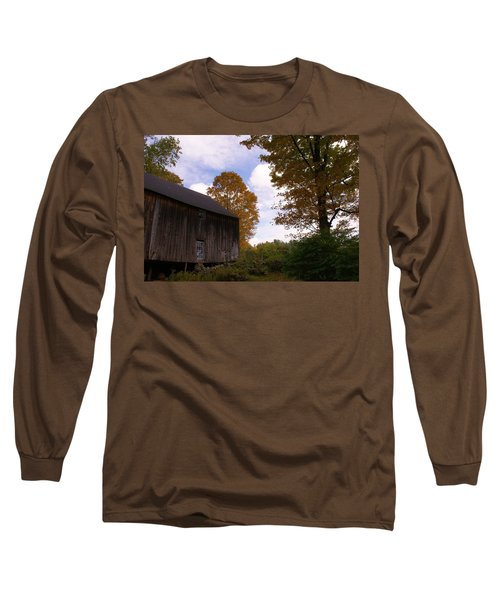 Barn In Fall Long Sleeve T-Shirt by Lois Lepisto