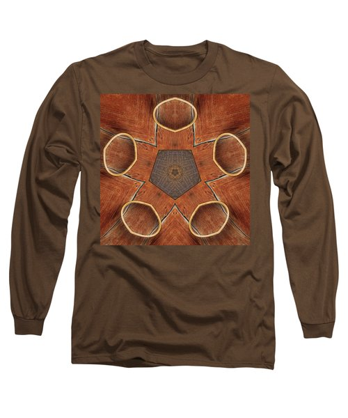 Barn Wood Kaleidoscope 2  Long Sleeve T-Shirt