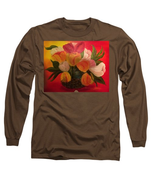 Basket Of Tulips Long Sleeve T-Shirt