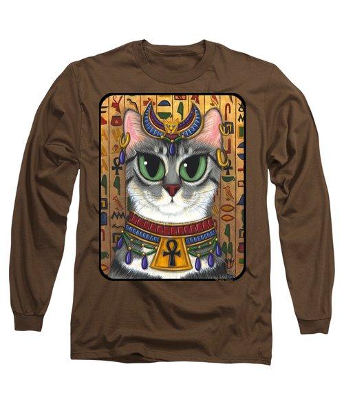 Bast Goddess - Egyptian Bastet Long Sleeve T-Shirt
