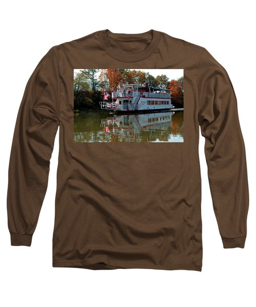 Long Sleeve T-Shirt featuring the photograph Bavarian Belle Riverboat by LeeAnn McLaneGoetz McLaneGoetzStudioLLCcom