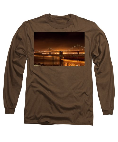 Bay Bridge At Night Long Sleeve T-Shirt