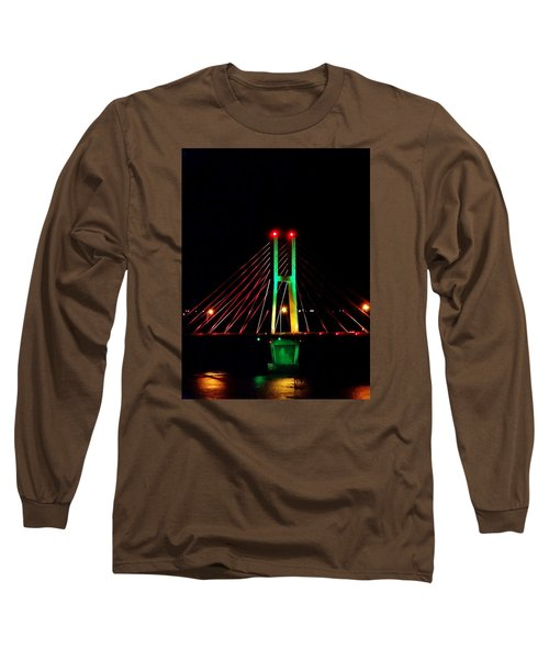 Bay View Christmas Lights Long Sleeve T-Shirt by Justin Moore