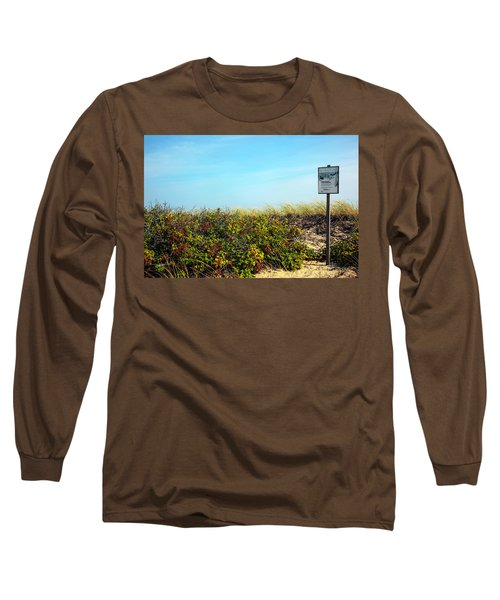 Long Sleeve T-Shirt featuring the photograph Be Kind To The Dune Plants by Madeline Ellis