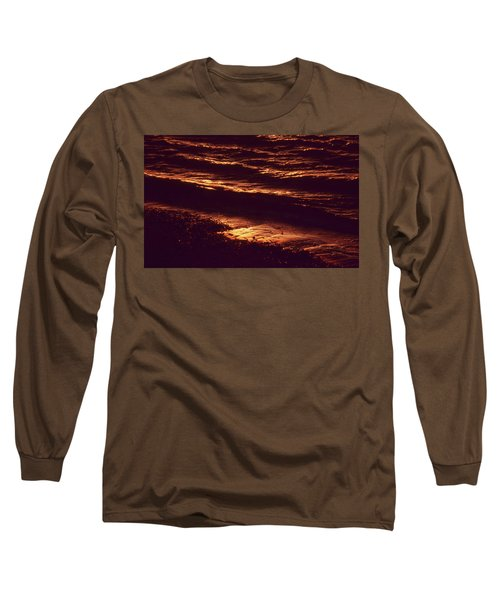 Long Sleeve T-Shirt featuring the photograph Beach Fire by Laurie Stewart